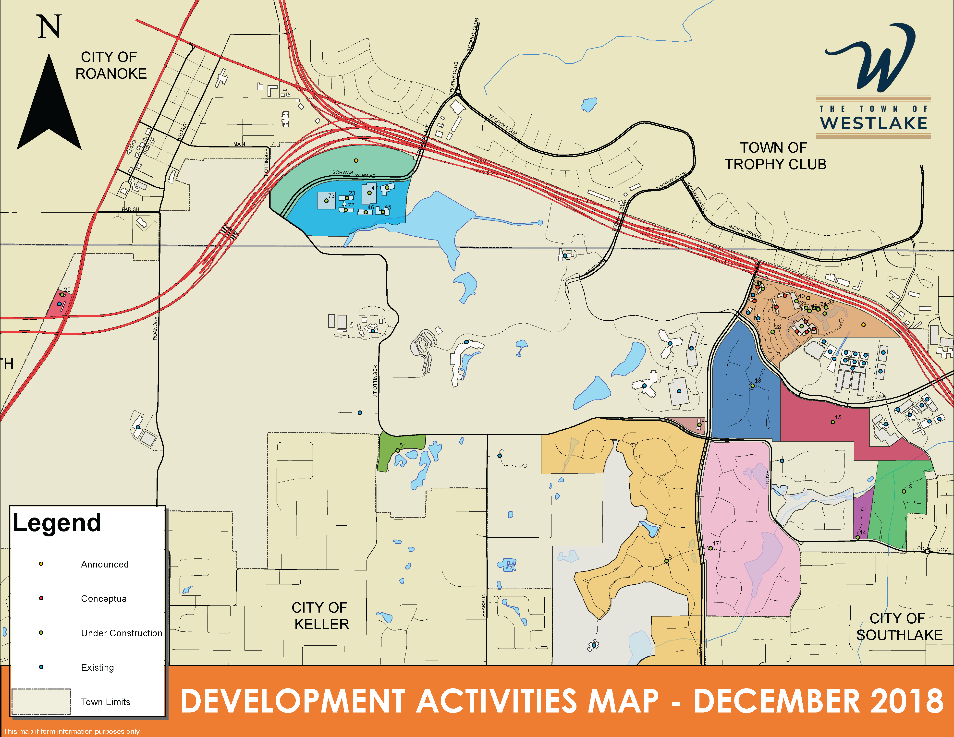 Development Activities Map