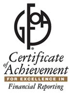 Certificate of Achievement for Excellence in Financial Reporting logo